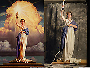 This is a photograph of Jenny Joseph modeling for a reference photo used by artist Michael Deas as the basis for the Columbia Pictures logo. It was shot in the New Orleans apartment of photographer Kathy Anderson in 1991. All Rights Reserved. ©Kathy Anderson