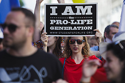 May 20, 2017 - Rome, Italy - Thousands of pro-life and anti-abortion demonstrators gathered in Rome for the annual 'March for Life' to protest against abortion and euthanasia and to proclaim the universal value of the right to life in Rome, Italy. (Credit Image: © Giuseppe Ciccia/Pacific Press via ZUMA Wire)