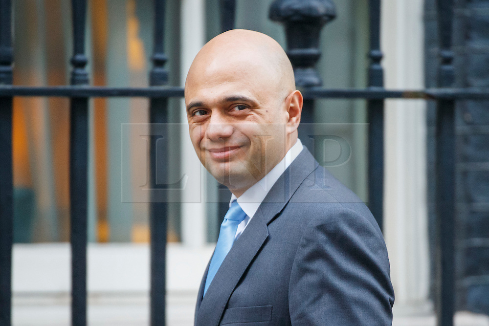 © Licensed to London News Pictures. 17/01/2017. London, UK. Communities and Local Government Secretary SAJID JAVID attends a cabinet meeting in Downing Street on Tuesday, 17 January 2017 before Prime Minister Theresa May's Brexit plan speech. Photo credit: Tolga Akmen/LNP