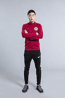 Portrait of Chinese soccer player Ni Yusong of Liaoning Whowin F.C. for the 2017 Chinese Football Association Super League, in Foshan city, south China's Guangdong province, 24 January 2017.
