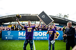 Jan Mlakar of NK Maribor celebrating after football match between NK Maribor and NK Krsko in 35th Round of Prva liga Telekom Slovenije 2018/19, on May 22nd, 2019, in Stadium Ljudski vrt, Maribor, Slovenia. Maribor became Slovenian National Champion for 2019. Photo Grega Valancic / Sportida