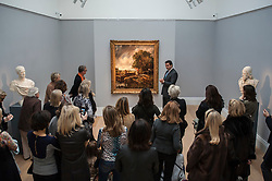 "© Licensed to London News Pictures. 04/12/2015. London, UK. Potential buyers view ""The Lock"" by John Constable (est. £8-12 million), ahead of Sotheby's London evening sale of Old Master and British paintings on 9th December 2015. This is the first time that this painting has been on the market for 160 years.  Photo credit : Stephen Chung/LNP"