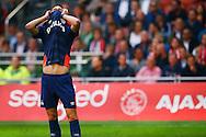 04-10-2015 VOETBAL: AJAX-PSV:AMSTERDAM<br /> Gaston Pereiro van PSV teleurgesteld na het missen van een kans<br /> <br /> <br /> Foto: Geert van Erven