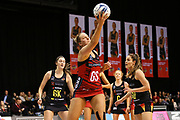 Tactix goal shoot Ellie Bird in action during the ANZ Premiership netball match - Magic v Tactix played at Claudelands Arena, Hamilton, New Zealand on 30 July 2018.<br /> <br /> Copyright photo: © Bruce Lim / www.photosport.nz
