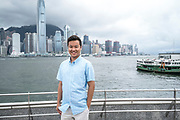 Matthew Chan poses for a portrait at the Star Ferry Pier in Tsim Sha Tsui, Kowloon, Hong Kong on June 10th, 2019. Matthew is about to start an MBA course at St. John's University in New York. Photo by Suzanne Lee/PANOS for Financial Times