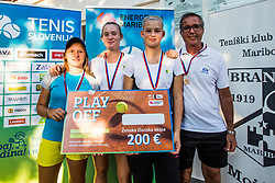 Medal ceremony at Tennis tournament for amateurs organized by Tenis Slovenija, on September 16, 2018 in Teniski Klub Branik, Maribor, Slovenia. Photo Credit Grega Valancic