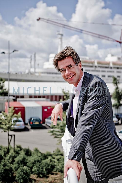 Lucas Petit, een van de betrokken (horeca) ondernemers bij de SS Rotterdam in Rotterdam, Netherlands op 08 July, 2009.  (Photo by Michel de Groot)