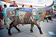 Texas Moosicians, a piece in CowParade, Austin, Texas, July 27, 2010.  CowParade is considered to be the largest and most recognized public art event in the world. Starting July 2011, about 100 cows painted by local artists went on display throughout Austin.