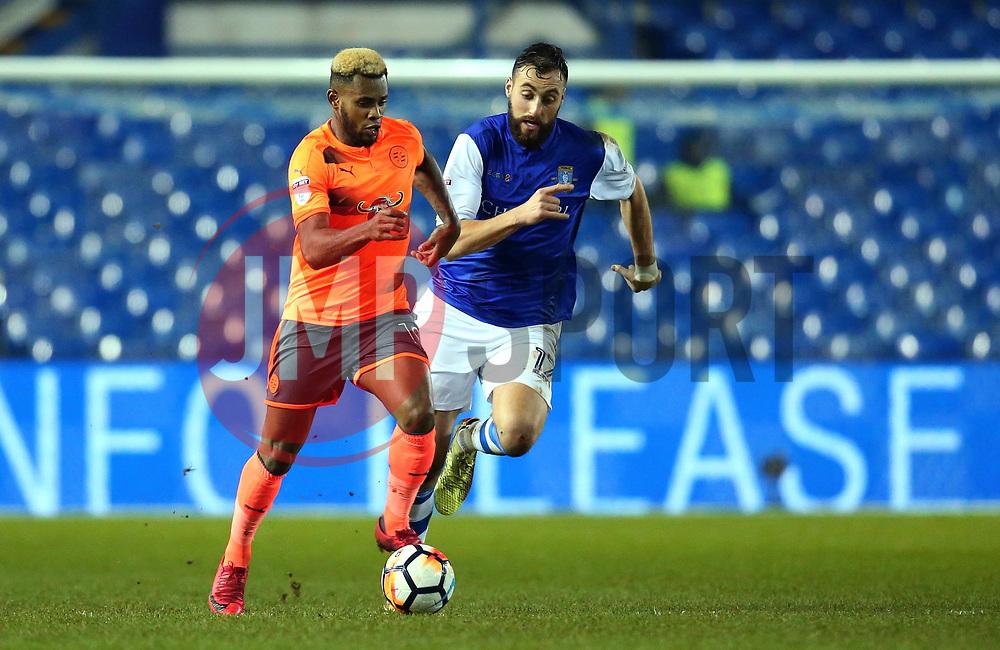 Leandro Bacuna of Reading goes past Atdhe Nuhiu of Sheffield Wednesday - Mandatory by-line: Robbie Stephenson/JMP - 26/01/2018 - FOOTBALL - Hillsborough - Sheffield, England - Sheffield Wednesday v Reading - Emirates FA Cup fourth round proper