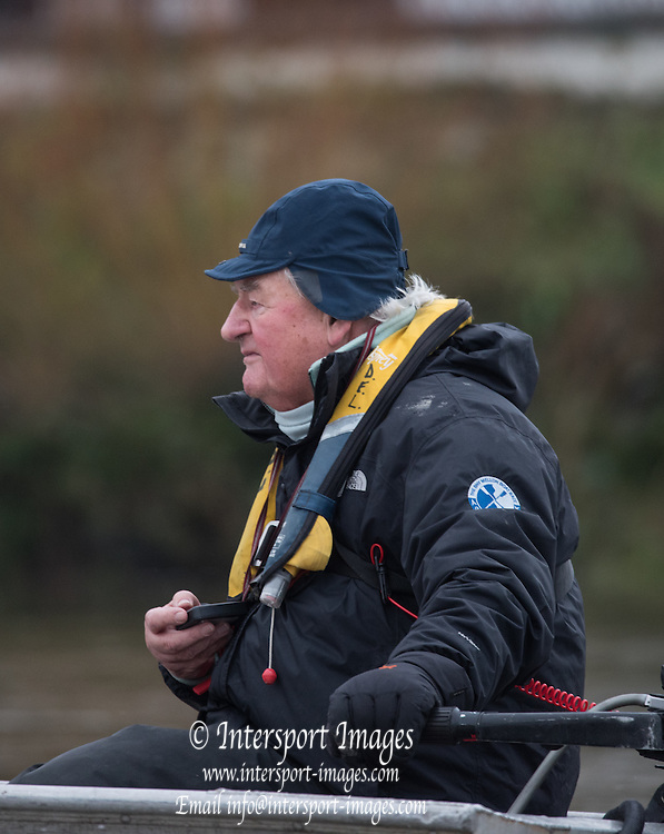 London, Great Britain, Cambridge Assistant and Goldie Coach, Donald LEGGETT, during the BNY Mellon, 2016 University Men's Boat Race, Putney to Mortlake. ENGLAND. <br /> <br /> Sunday 13.12.2015<br /> <br /> [Mandatory Credit; Peter Spurrier/Intersport-images]