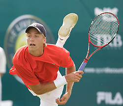 Liverpool, England - Tuesday, June 12, 2007: Fredrik Sletting-Johnsen (NOR) in action on day one of the Liverpool International Tennis Tournament at Calderstones Park. For more information visit www.liverpooltennis.co.uk. (Pic by David Rawcliffe/Propaganda)
