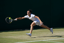 25.06.2011, Wimbledon, London, GBR, Wimbledon Tennis Championships, im Bild Francesca Schiavone (ITA) in action during the Ladies' Singles 3rd Round match on day six of the Wimbledon Lawn Tennis Championships at the All England Lawn Tennis and Croquet Club, EXPA Pictures © 2011, PhotoCredit: EXPA/ Propaganda/ *** ATTENTION *** UK OUT!
