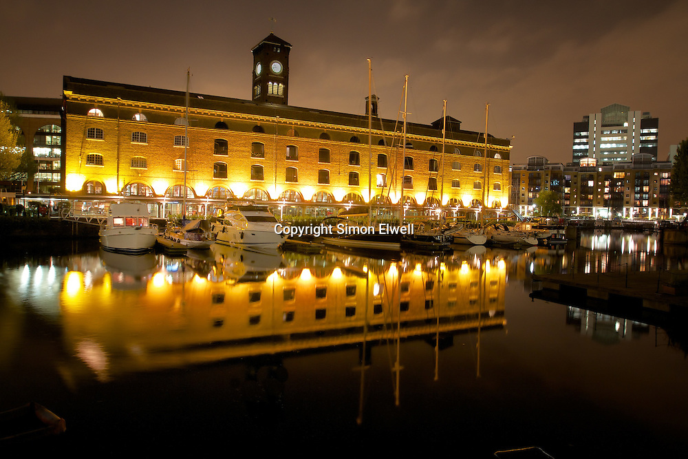 St Katherine's Marina Dock (London) at Night