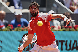 May 9, 2019 - Madrid, Madrid, Spain - Jeremy Chardy seen in action during the Mutua Madrid Open Masters match on day 7 at Caja Magica in Madrid. (Credit Image: © Legan P. Mace/SOPA Images via ZUMA Wire)
