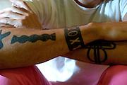 Belo Horizonte_MG, Brasil...Detalhe da tatuagem do designer egipcio Karim Rashid...Detail Karim Rashid ring, he is a Egyptian designer...Foto: LEO DRUMOND / NITRO