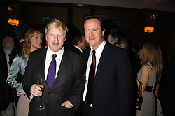 Left to right, BORIS JOHNSON and DAVID CAMERON MP  at a party to celebrate the 180th Anniversary of The Spectator magazine, held at the Hyatt Regency London - The Churchill, 30 Portman Square, London on 7th May 2008.<br /><br />NON EXCLUSIVE - WORLD RIGHTS