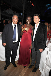 Left to right, SIR PHILIP GREEN, CHRISTINE OHURUOGU and LORD COE at the GQ Men of the Year Awards held at the Royal Opera House, London on 2nd September 2008.<br /> <br /> NON EXCLUSIVE - WORLD RIGHTS