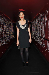 SOLONI LODHA at a party and fashion show to celebrate the 40th anniversary of Butler & Wilson held at Koko, 1 Camden High Street, London NW1 on 12th November 2009.