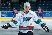 KELOWNA, CANADA - MARCH 5: Tyson Baillie #24 of Kelowna Rockets warms up against the Kamloops Blazers on March 5, 2016 at Prospera Place in Kelowna, British Columbia, Canada.  (Photo by Marissa Baecker/Shoot the Breeze)  *** Local Caption *** Tyson Baillie;