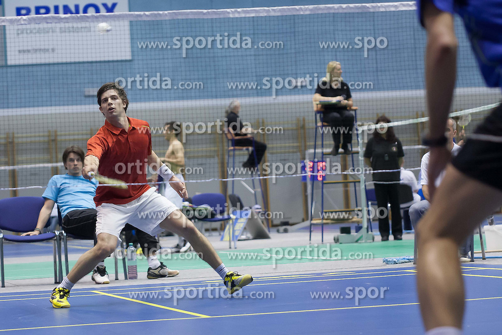 David Obernosterer of Austria during Slovenia Open Badminton tournament 2012, on May 11, 2012, in Medvode, Slovenia. (Photo by Grega Valancic / Sportida.com)