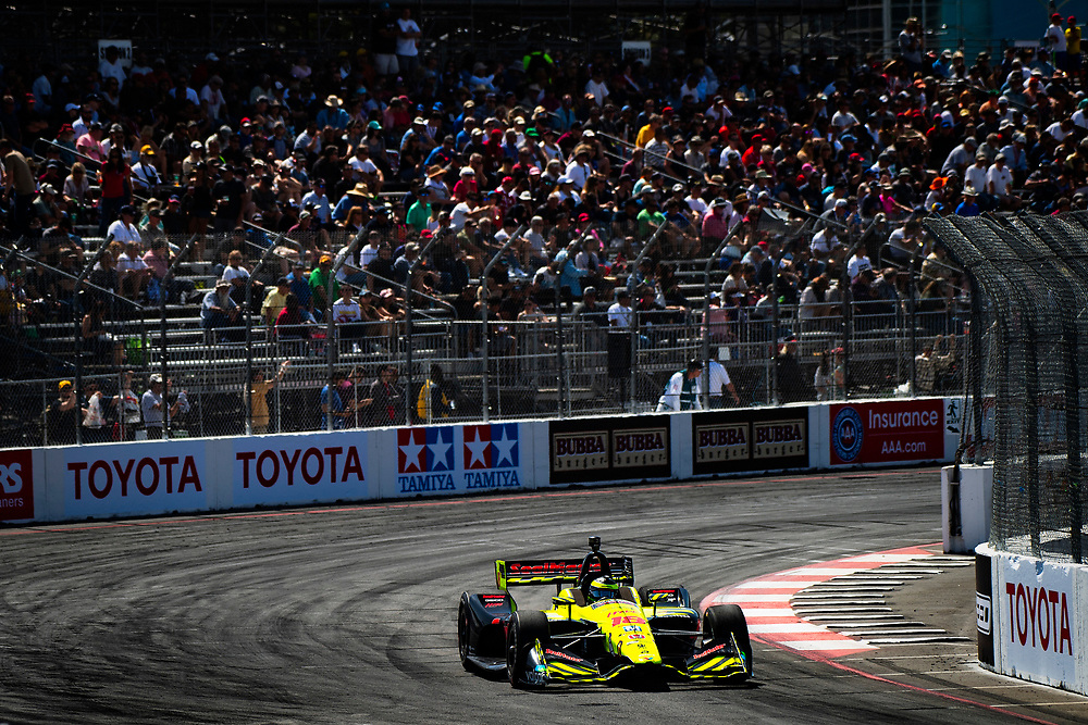 S&eacute;bastien Bourdais, Dale Coyne Racing with Vasser-Sullivan Honda<br /> Friday 13 April 2018<br /> Toyota Grand Prix of Long Beach<br /> Verizon IndyCar Series<br /> Streets of Long Beach, California USA<br /> World Copyright: Scott R LePage<br /> LAT Images