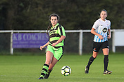 Forest Green Rovers Holly Timbrell(8) during the South West Womens Premier League match between Forest Greeen Rovers Ladies and Marine Academy Plymouth LFC at Slimbridge FC, United Kingdom on 5 November 2017. Photo by Shane Healey.