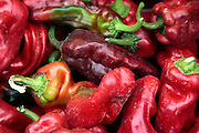 Paprika (Peppers) at a Market Stall. Photographed in Vienna Austria