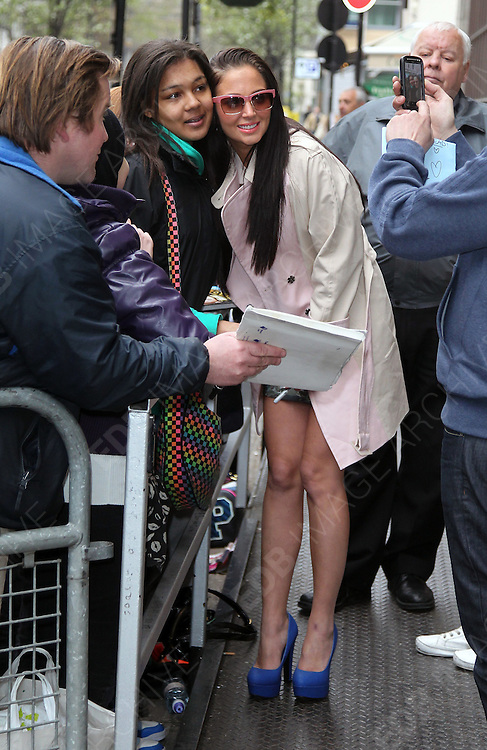 05.APRIL.2012. LONDON<br /> <br /> TULISA AT BBC RADIO ONE STUDIOS, LONDON<br /> <br /> BYLINE: EDBIMAGEARCHIVE.COM<br /> <br /> *THIS IMAGE IS STRICTLY FOR UK NEWSPAPERS AND MAGAZINES ONLY*<br /> *FOR WORLD WIDE SALES AND WEB USE PLEASE CONTACT EDBIMAGEARCHIVE - 0208 954 5968*