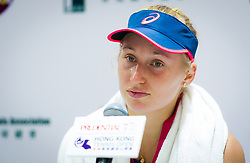 October 12, 2018 - Daria Gavrilova of Australia talks to the media after losing her quarter-final match at the 2018 Prudential Hong Kong Tennis Open WTA International tennis tournament (Credit Image: © AFP7 via ZUMA Wire)
