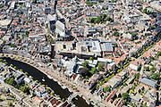 Nederland, Noord-Holland, Haarlem, 01-08-2016; centrum Haarlem, met aan het Spaarne het Teylersmuseum en direct daar achter Rechtbank Haarlem en De Grote of Sint Bavokerk. Bakenessergracht.<br /> City centre Haarlem.<br /> luchtfoto (toeslag op standard tarieven);<br /> aerial photo (additional fee required);<br /> copyright foto/photo Siebe Swart