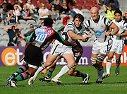 Twickenham, GREAT BRITAIN, Bristols, Luke ARSCOTT, breaking with the ball, during the Guinness Premiership match,  Harlequins vs Bristol Rugby, at The Stoop Stadium, Surrey on Sat 13.09.2008. [Photo, Peter Spurrier/Intersport-images]