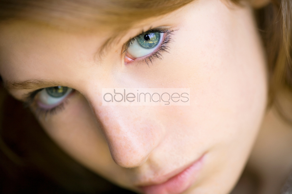 Young Woman Face, Close-up view