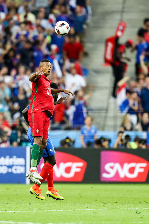 Nani from Portugal during the match against France. Portugal won the Euro Cup beating in the final home team France at Saint Denis stadium in Paris, after winning on extra-time by 1-0.