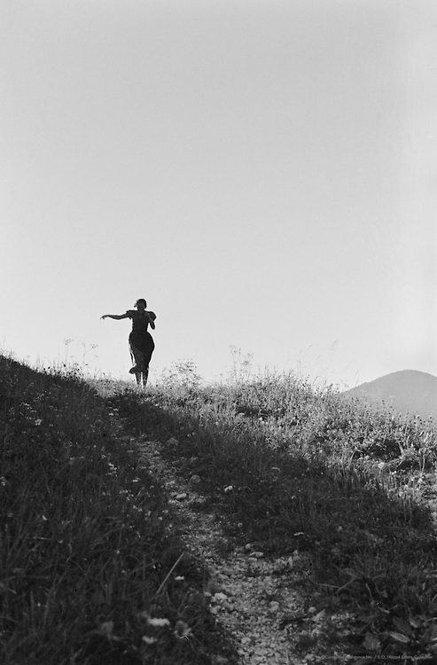 Woman's Silhouette on the Country Road, Austria, 1935