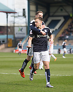 Dundee&rsquo;s Greg Stewart celebrates after scoring the opener - Dundee v Ross County - Ladbrokes Premiership at Dens Park<br /> <br />  - &copy; David Young - www.davidyoungphoto.co.uk - email: davidyoungphoto@gmail.com