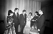 009/02/1966<br /> 02/09/1966<br /> 09 February 1966<br /> Airborne Travel Agency Film Reception at the Irish Sugar Co. Theatre at Earlsfort Terrace,<br /> Dublin. Pictured prior to the continental film show were (l-r): Miss Adelina Tost; Mr. Jim Coffey (agency); Mr. Patrick Shannon (agency); Miss Catalina Rosales; Miss Amparo Moreno and Mr. Harry Sydner, Assistant Manager.