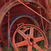 Rusted Wheels - Pottsville - Merlin, Oregon - Lensbaby