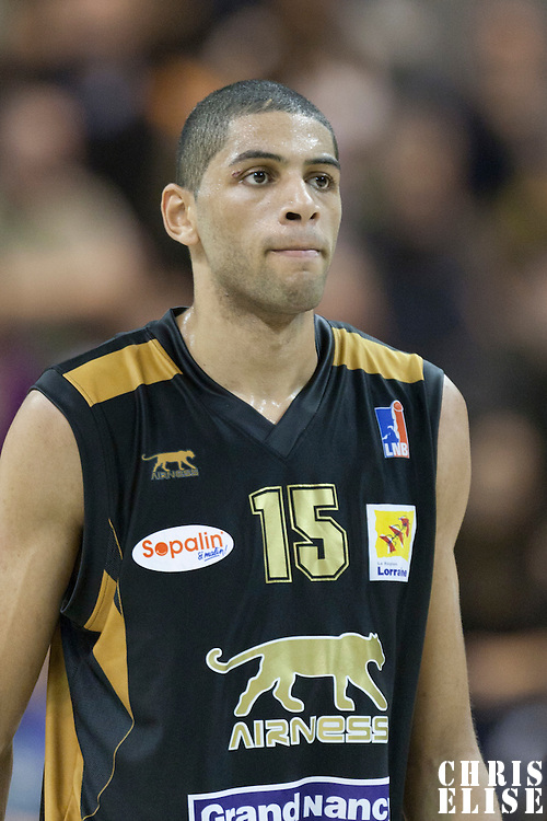 BASKETBALL - FRENCH CHAMPIONSHIP PRO A 2011-2012 - VILLEURBANNE (FRA) - 06/11/2011 - PHOTO : CHRISTOPHE ELISE  - ASVEL LYON VILLEURBANNE v NANCY - NICOLAS BATUM (SLUC NANCY)
