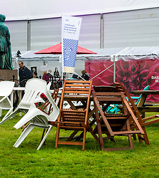 Pictured: A drech day at the Edinburgh Book Festival does not auger well for visitors