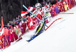 "29.01.2019, Planai, Schladming, AUT, FIS Weltcup Ski Alpin, Slalom, Herren, 1. Lauf, im Bild Julien Lizeroux (FRA) // Julien Lizeroux of France in action during his 1st run of men's Slalom ""the Nightrace"" of FIS ski alpine world cup at the Planai in Schladming, Austria on 2019/01/29. EXPA Pictures © 2019, PhotoCredit: EXPA/ JFK"