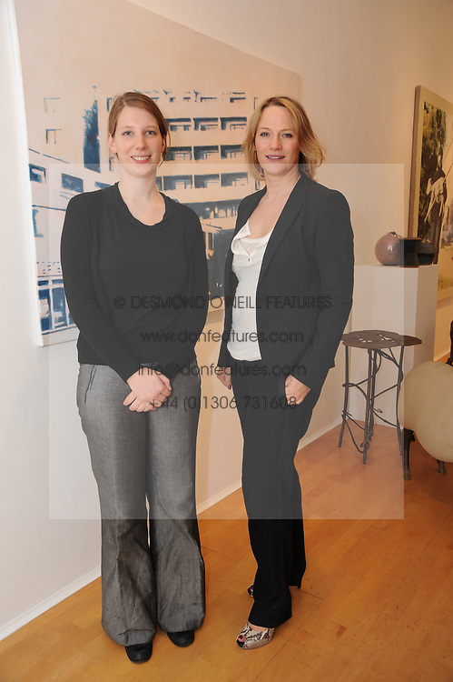 Left to right, STEFANIE ROGGENSACK and CHEYENNE WESTPHAL at a pre lunch reception to celebrate the launch of the new Louisa Guinness gallery at Ben Brown Fine Art, Cork Street, London on 18th November 2009.
