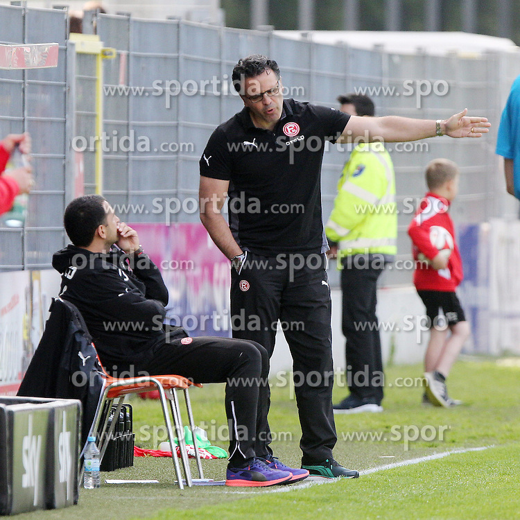 17.05.2015, Hardtwald, Sandhausen, GER, 2. FBL, SV 1916 Sandhausen vs Fortuna Duesseldorf, 33. Runde, im Bild Taskin Aksoy (Trainer/Fortuna Duesseldorf) // during the 2nd German Bundesliga 33th round match between SV 1916 Sandhausen and Fortuna Duesseldorf at the Hardtwald in Sandhausen, Germany on 2015/05/17. EXPA Pictures &copy; 2015, PhotoCredit: EXPA/ Eibner-Pressefoto/ Bermel<br /> <br /> *****ATTENTION - OUT of GER*****