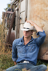 cowboy on a ranch outdoors