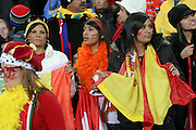 JOHANNESBURG, SOUTH AFRICA- Sunday 11 July 2010, Spanish fans during the final between Spain The Netherlands (Holland) held at Soccer City in Soweto during the 2010 FIFA Soccer World Cup..Photo by Roger Sedres/Image SA