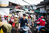 The streets surrounding Binh Tay market in District 5, Chinatown, Ho Chi Minh City, Vietnam.