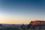 Powered paragliding  near Monument Valley on the Utah Arizona Border