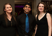 Aisling Fanning, Rahul Titus and Sarah Spellacy  from Medtronic who  performed  at Choir Factor in the Radisson Blu.<br /> Choir Factor is a fundraiser for The Sccul Sanctuary, Therapeutic Support Centre in Kilcornan Clarenbrdge.<br /> <br />  Photo:Andrew Downes, xposure.