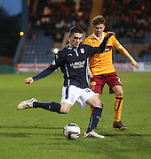 Dundee's Alex Harris and Motherwell's Craig Reid -  Dundee v Motherwell, SPFL Premiership at Dens Park <br /> <br /> <br />  - &copy; David Young - www.davidyoungphoto.co.uk - email: davidyoungphoto@gmail.com