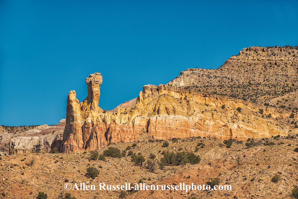Chimney Rock, Ghost Ranch, Carson National Forest, outside Abiquiu, New Mexico