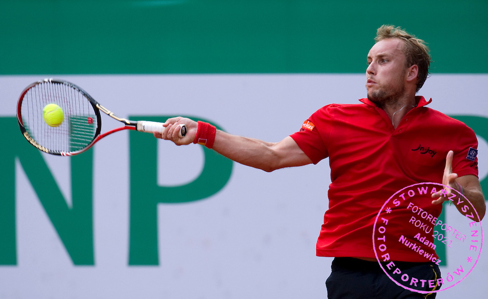STEVE DARCIS (BELGIUM) DURING DAY 5 OF THE MEN'S SINGLES TOURNAMENT BNP PARIBAS POLISH OPEN AT TENNIS CLUB IN SOPOT, POLAND...POLAND, SOPOT , JULY 15, 2011..( PHOTO BY ADAM NURKIEWICZ / MEDIASPORT )..PICTURE ALSO AVAIBLE IN RAW OR TIFF FORMAT ON SPECIAL REQUEST.